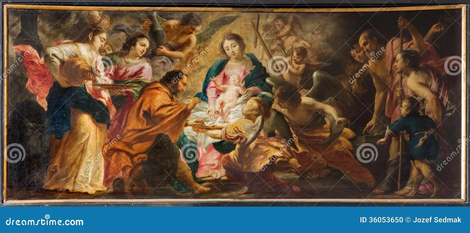 Antwerp Nativity Scene By Cornelis Schut 1597 1655
