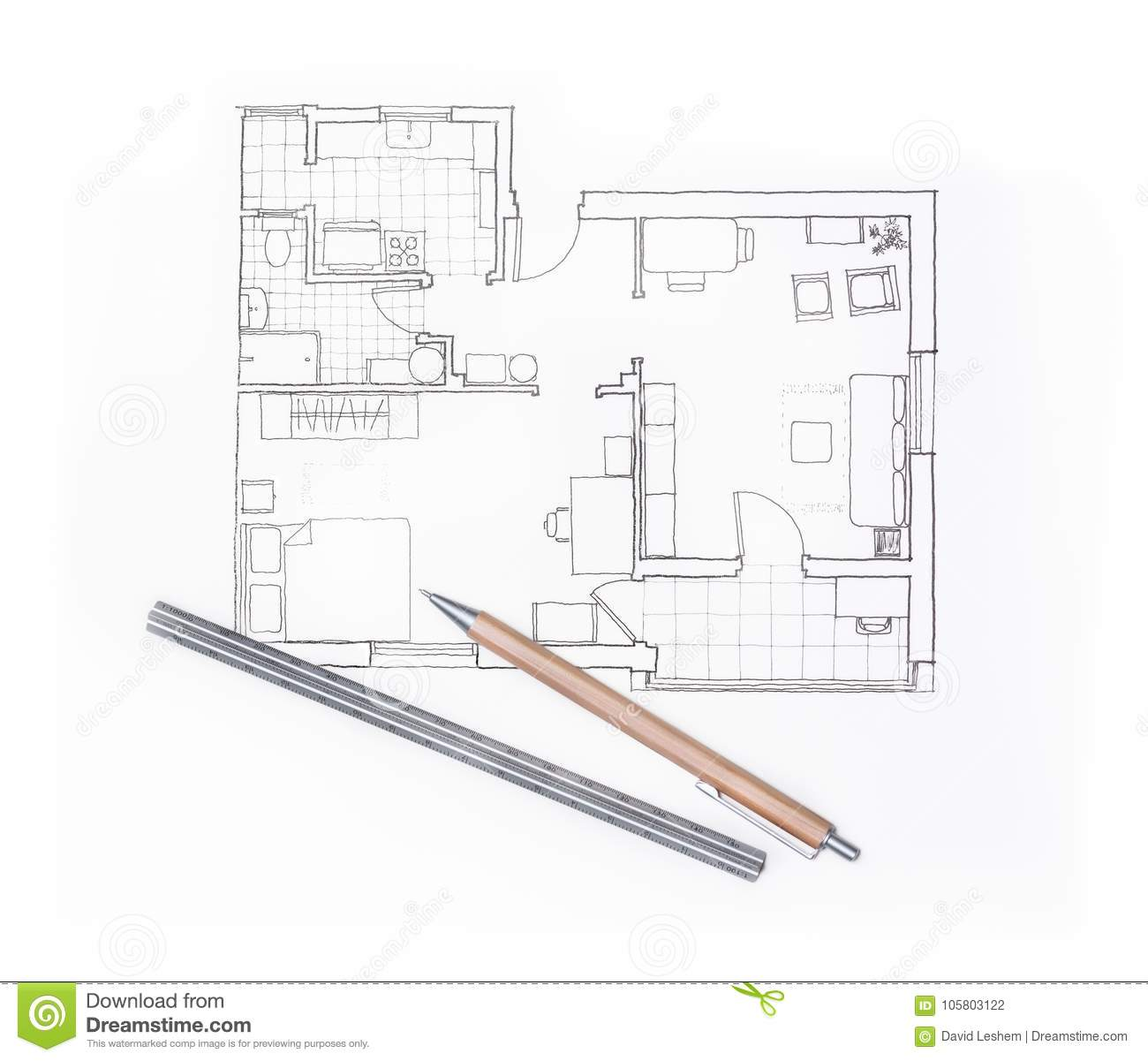 Apartment Diagram Vector Illustration