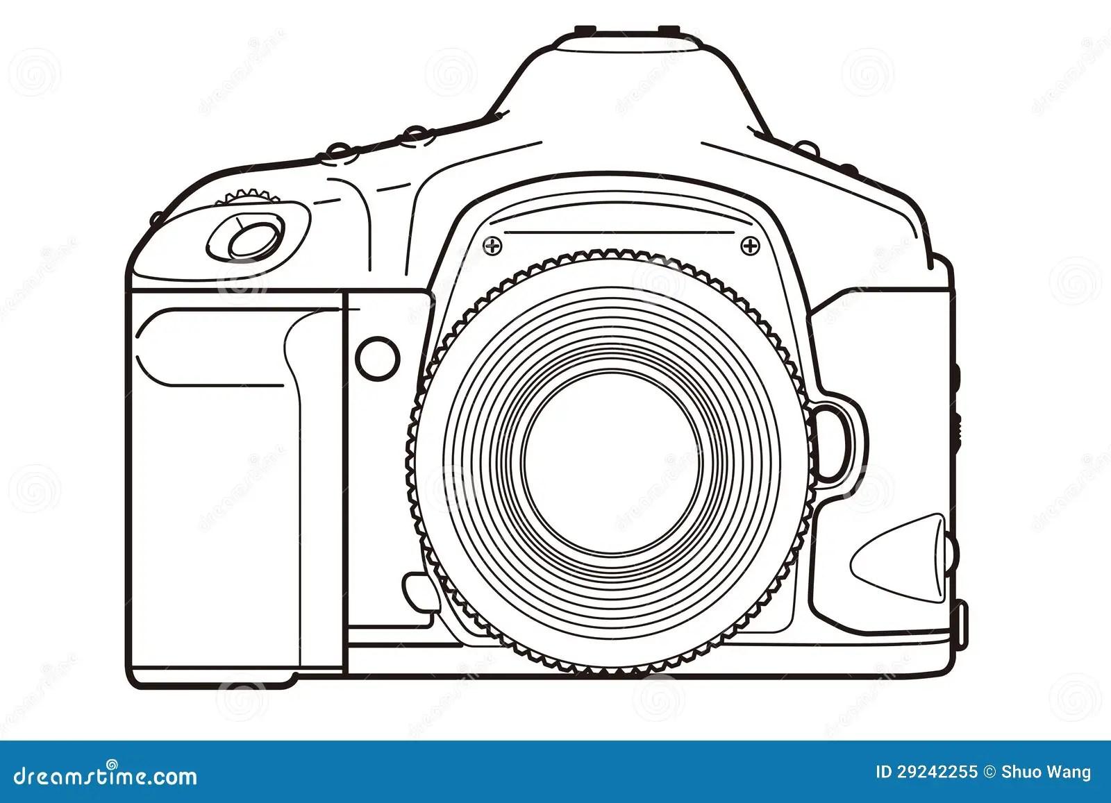 Appareil Photo De Dslr Illustration Stock Illustration Du