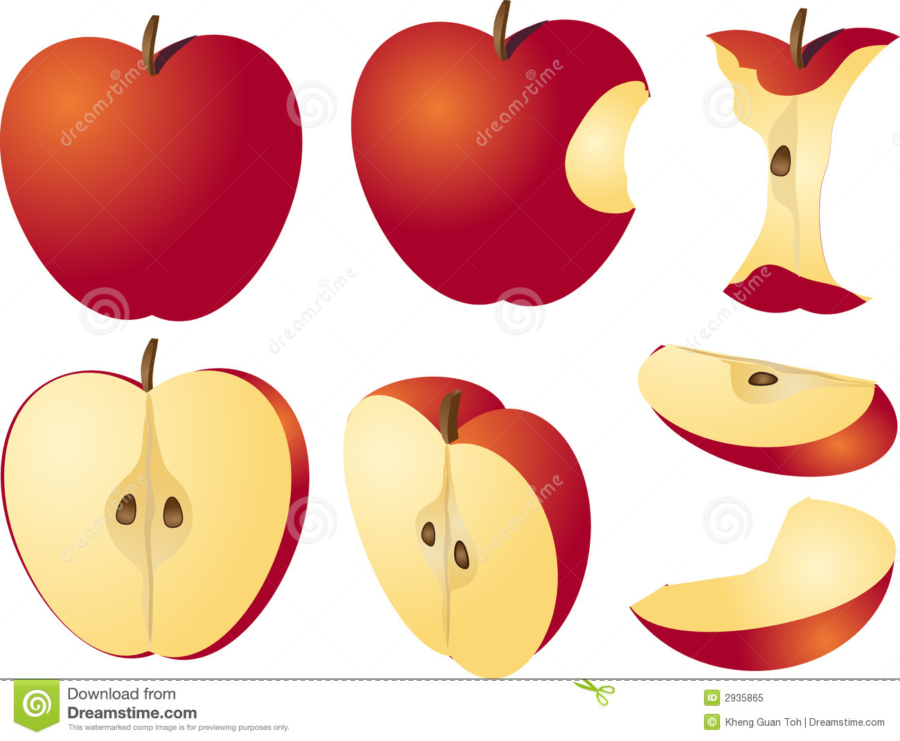 Apple Illustration Royalty Free Stock Photo