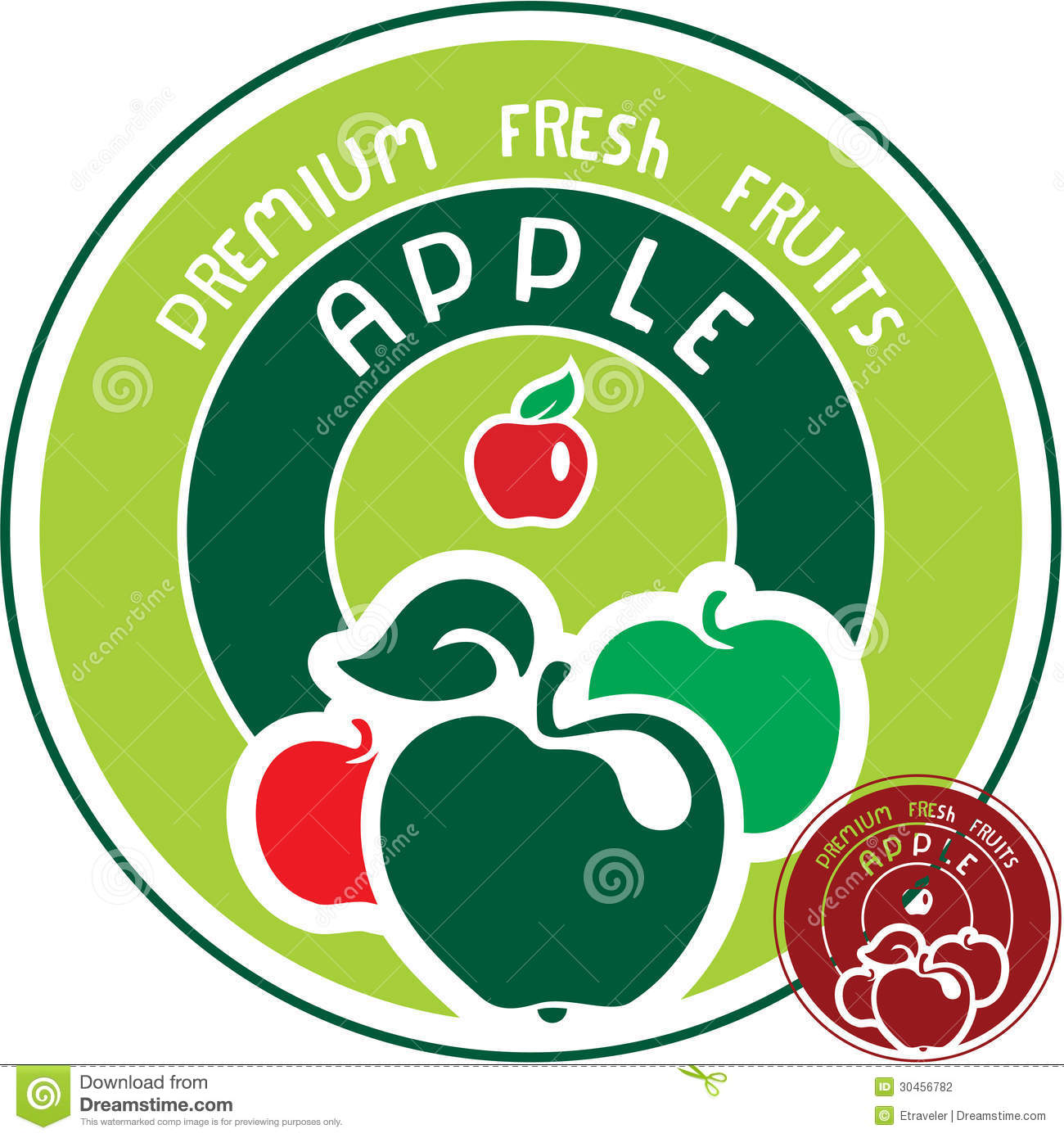 Apple Label Stock Vector Illustration Of Design Label