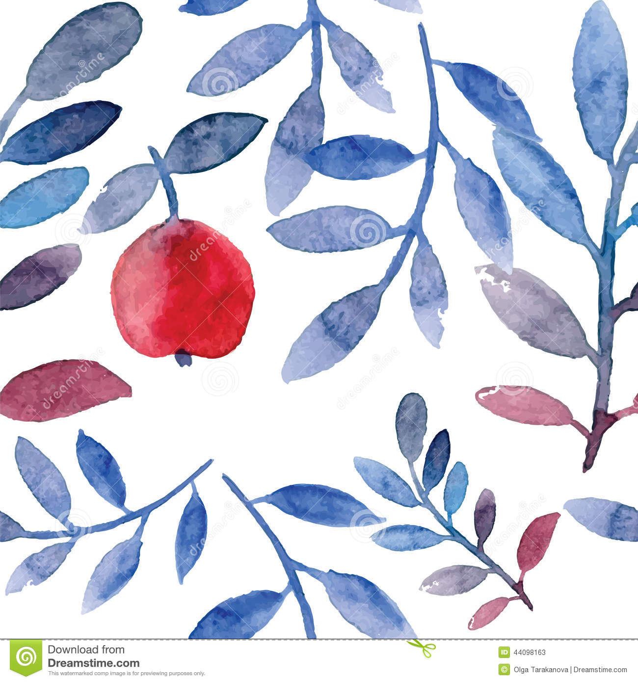Apple Tree Pattern Stock Vector