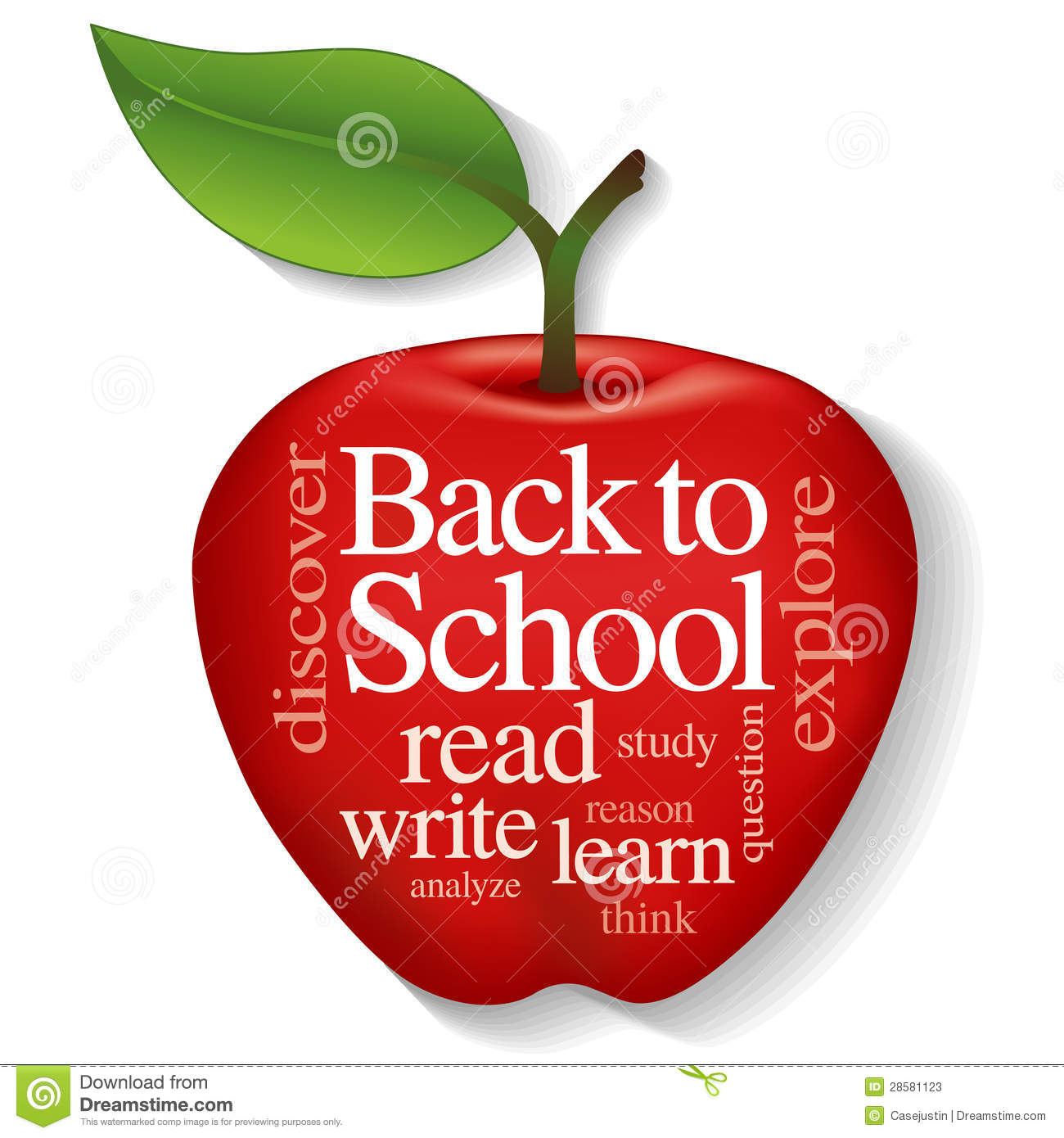 Apple Word Cloud Back To School Stock Photos