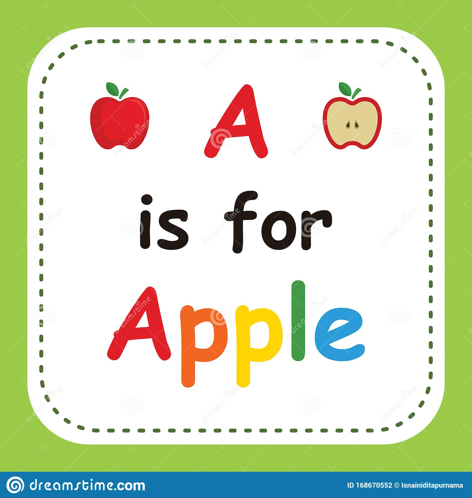 A Is For Apple Worksheet For Kindergarten Vector