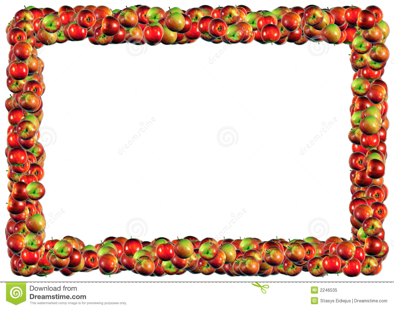 Apples Frame Stock Illustration Image Of Luscious Green