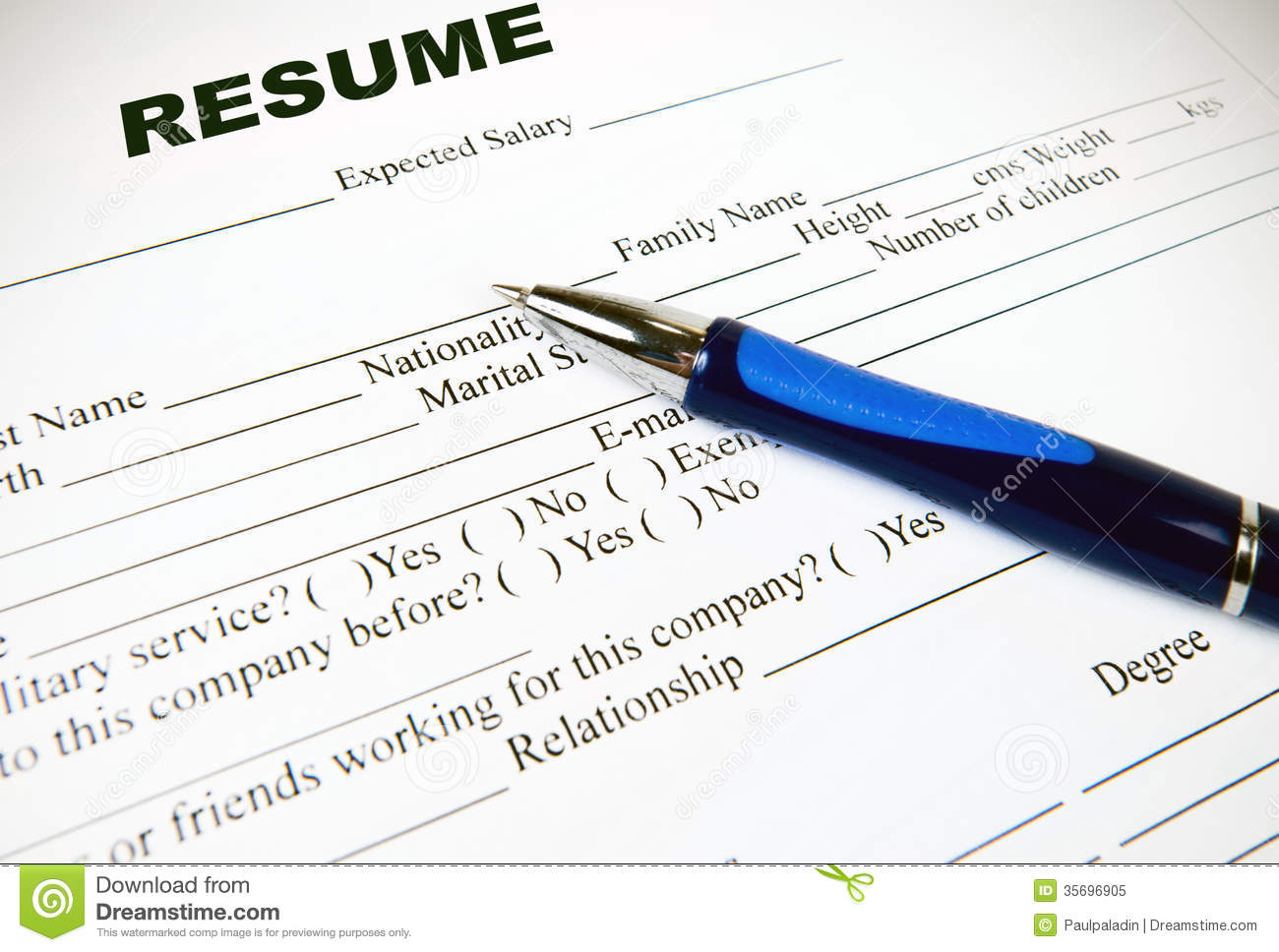 Paper to use for resume