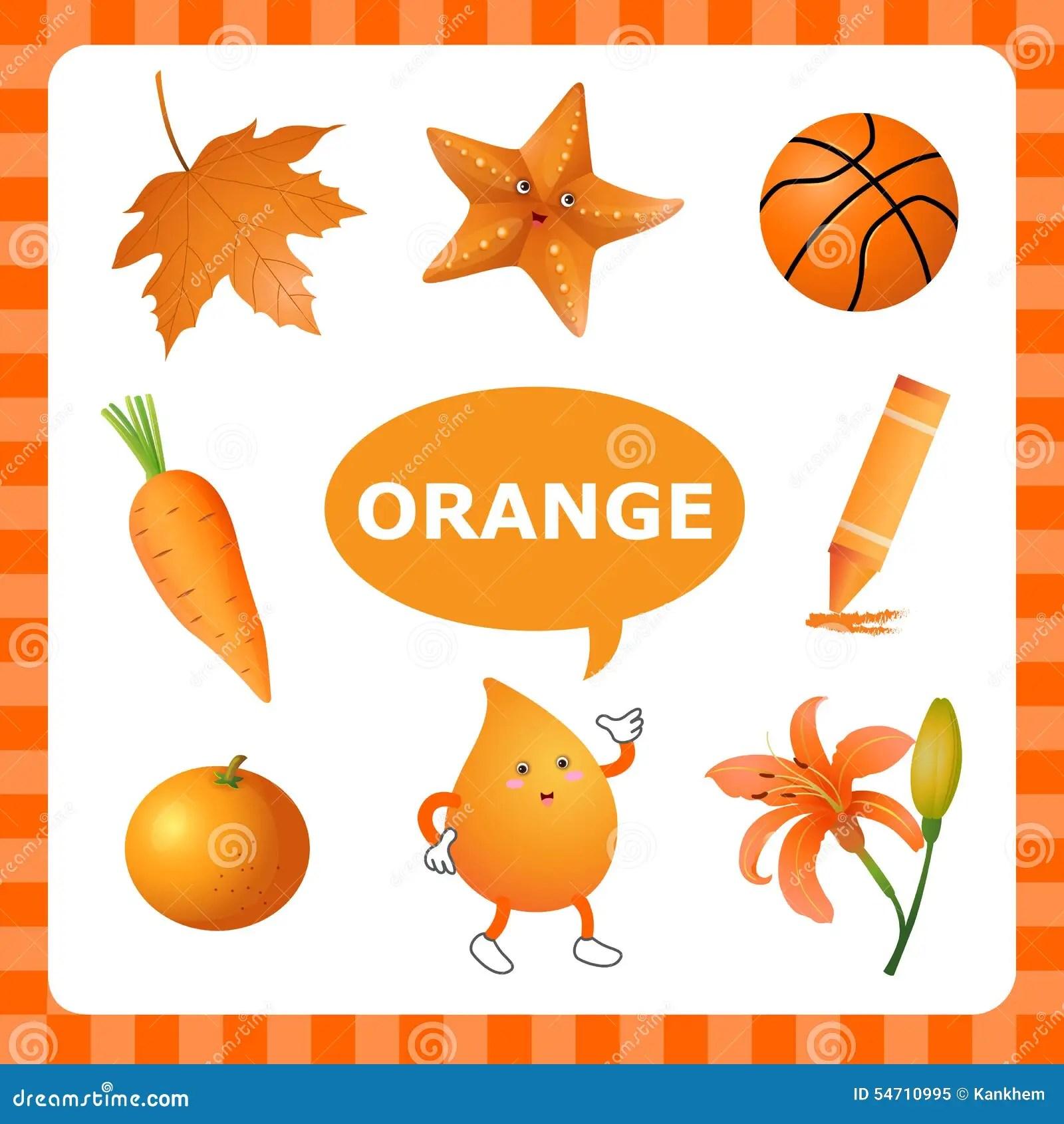Apprendimento Del Orangecolor Illustrazione Vettoriale