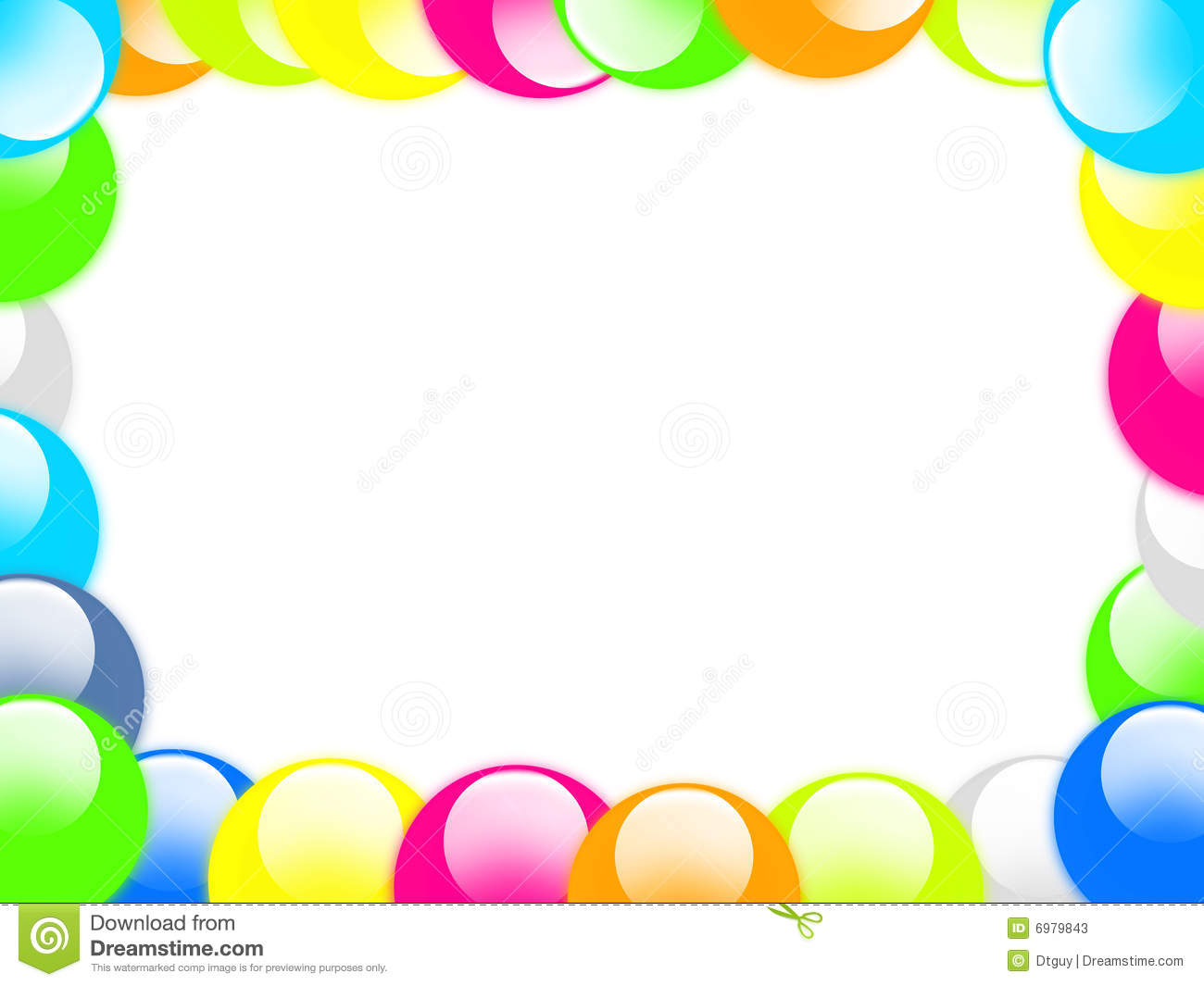 Aqua Button Border Stock Photos Image 6979843