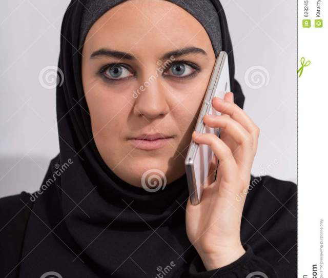 Arab Girl With A Phone