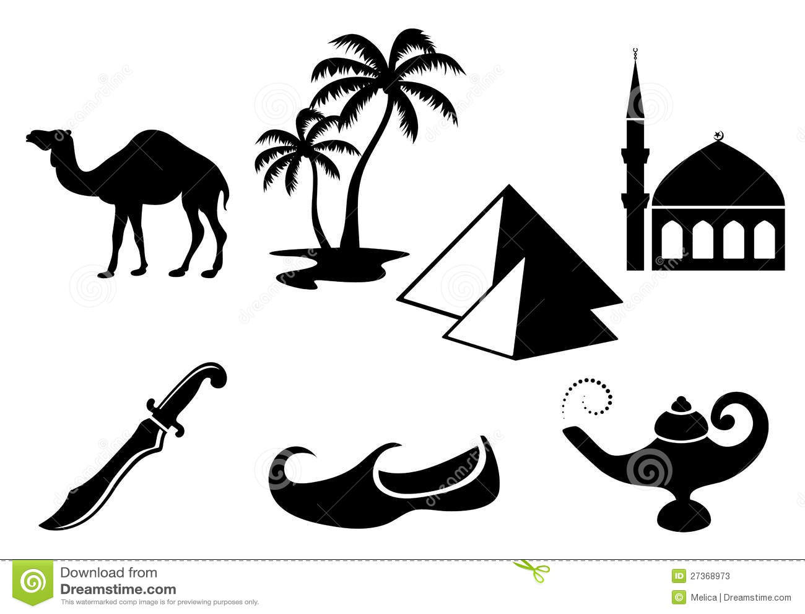 Arabian Icons Stock Photos
