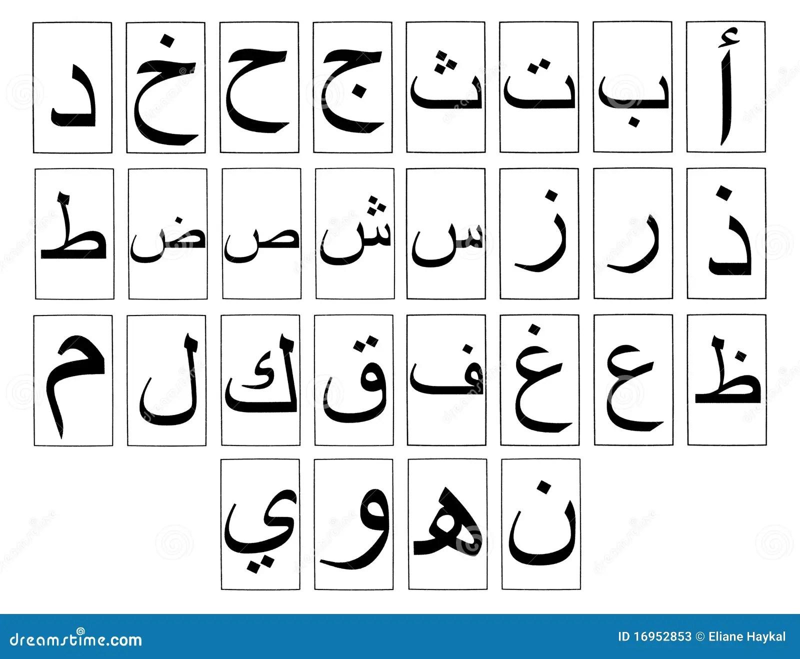 Arabisch Horizontaal Alfabet Stock Foto S
