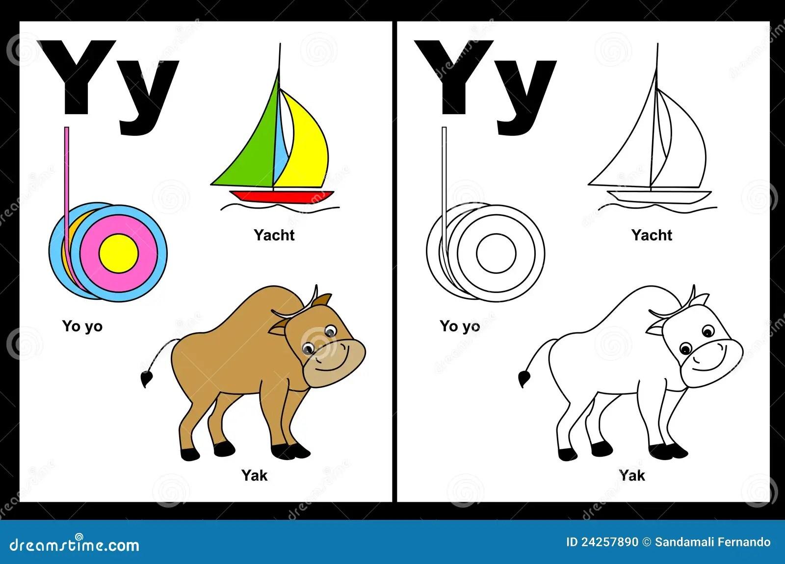 Arbeitsblatt Des Zeichens Y Vektor Abbildung