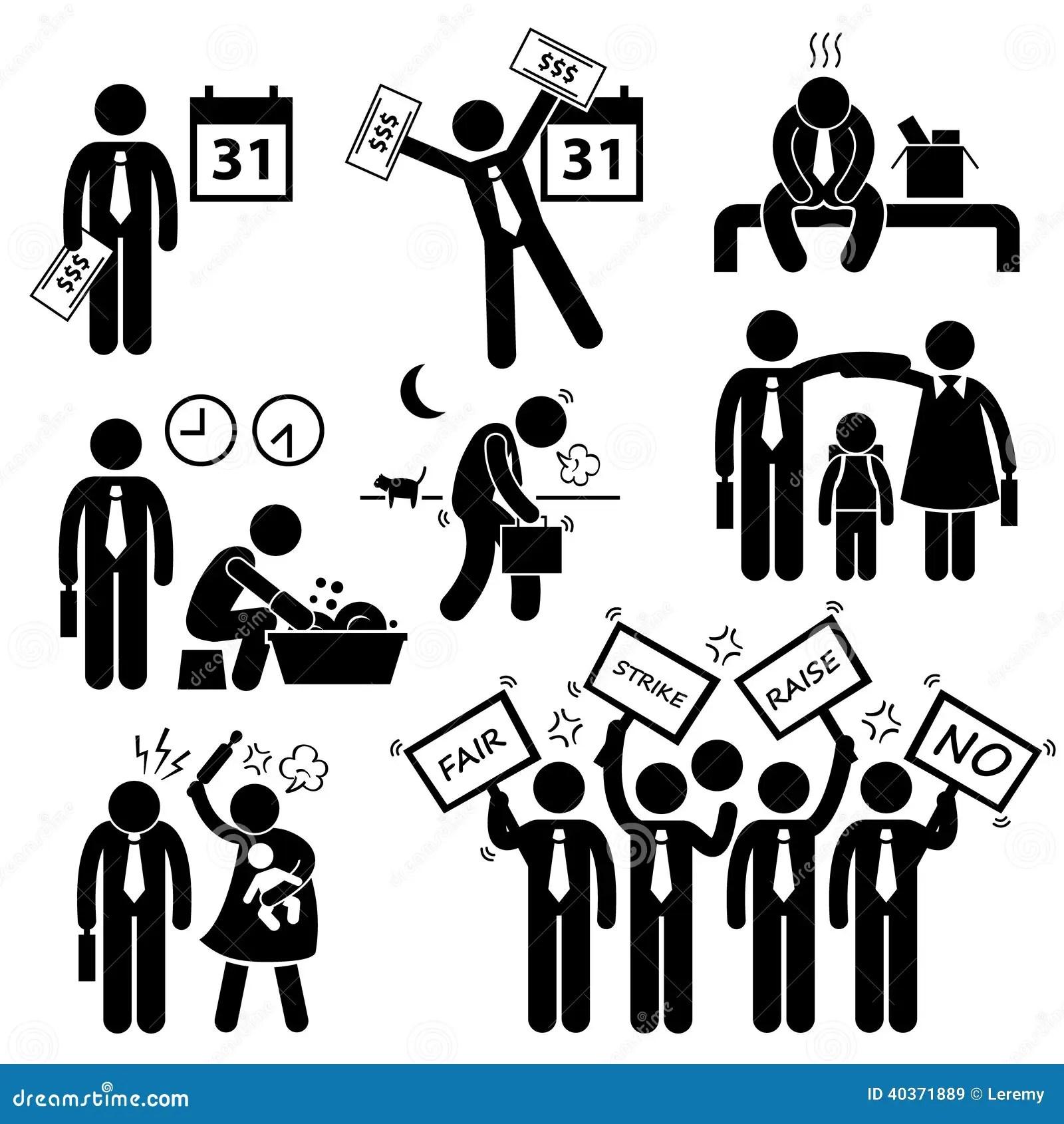 Arbeitskraft Angestellt Einkommens Gehalts Finanzproblem