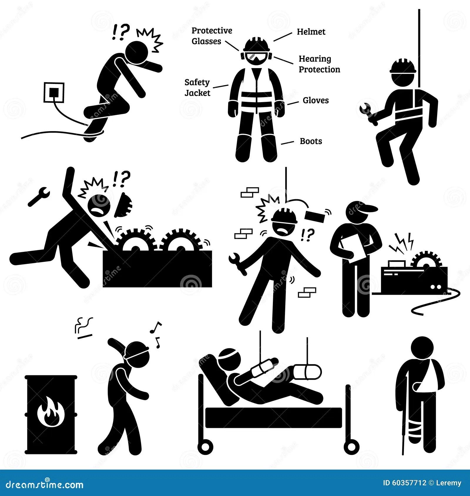 Arbeitsschutz Arbeitskraft Unfall Gefahrenpiktogramm