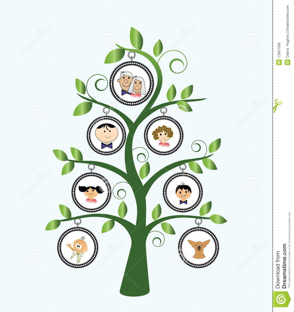 Arbre Genealogique Illustration De Vecteur Illustration