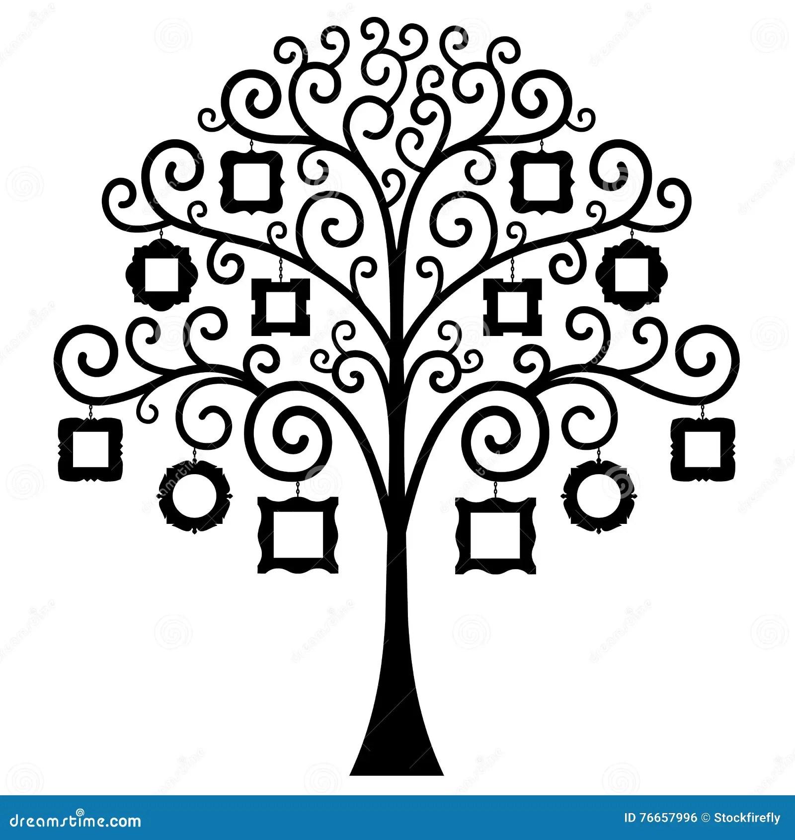 Arbre Genealogique De Vecteur Descripteur Illustration De