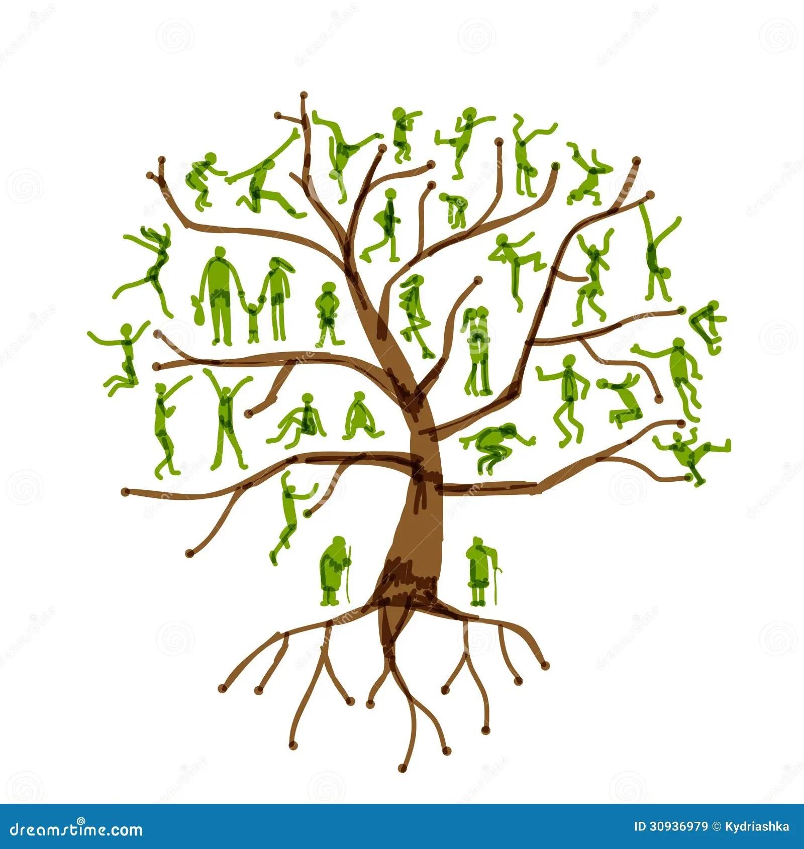 Arbre Genealogique Parents Silhouettes De Personnes