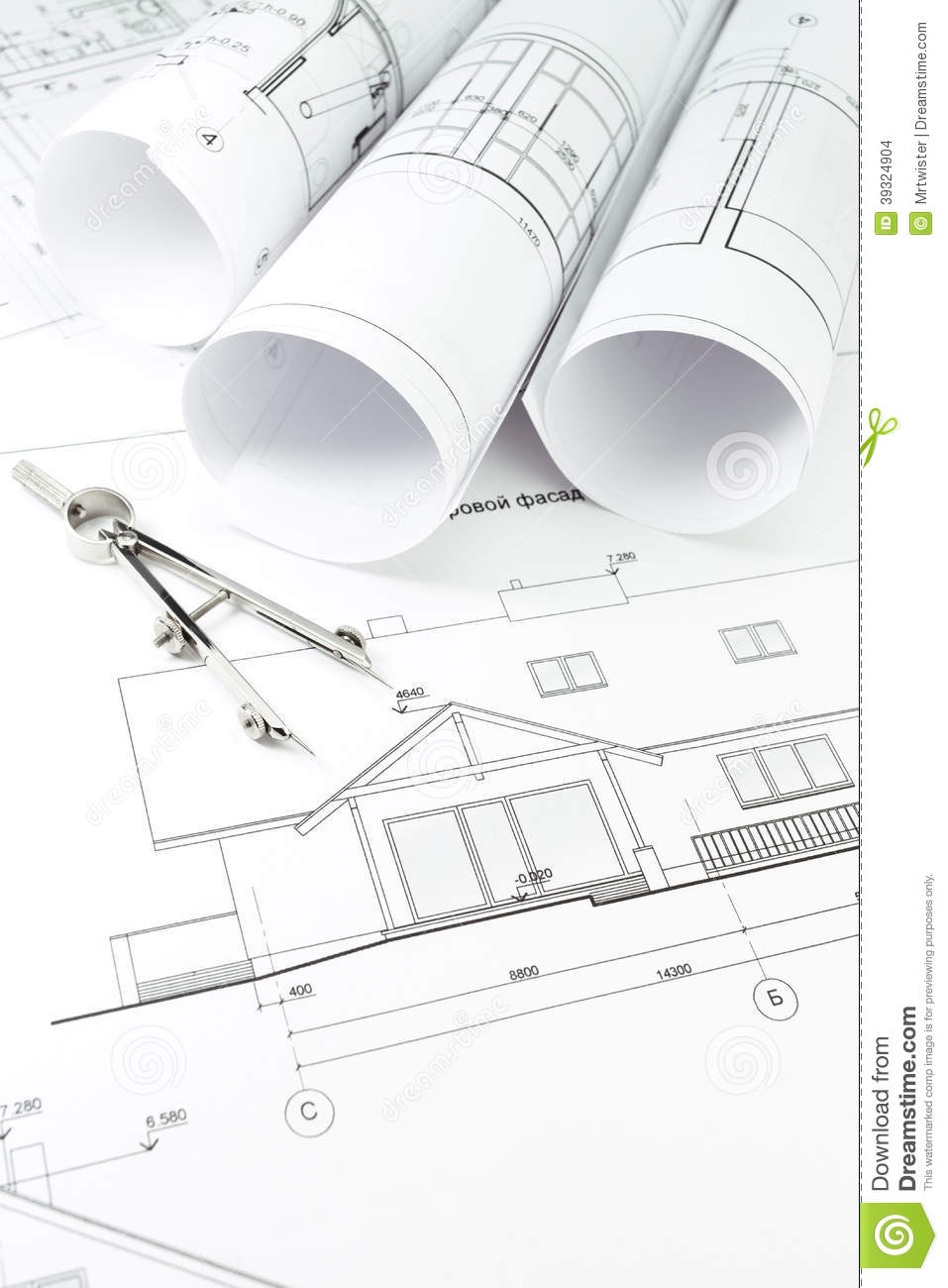 Architecture Draw And Instrument Stock Photo Image Of