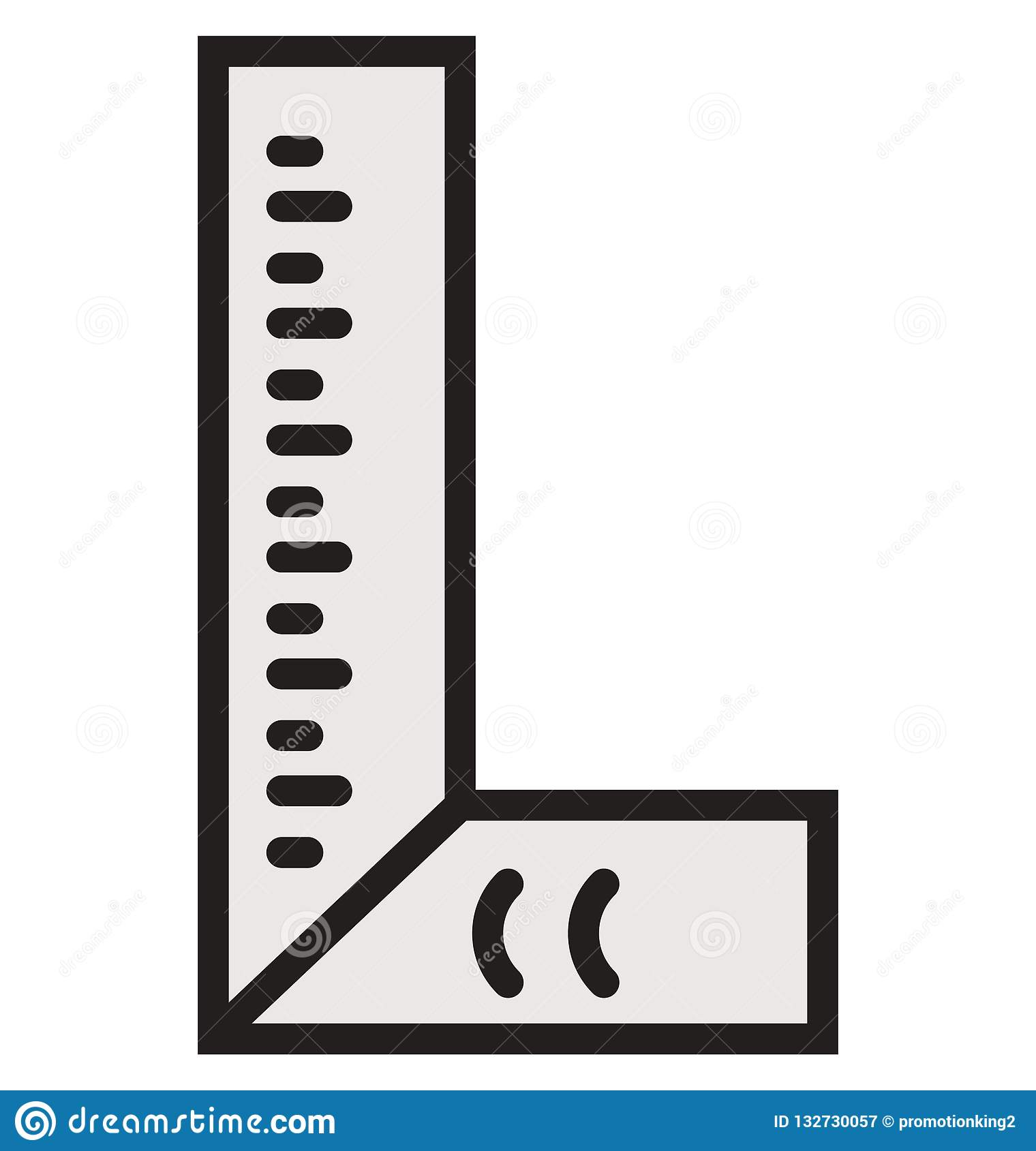 Architecture Ruler Outline And Filled Isolated Vector Icon