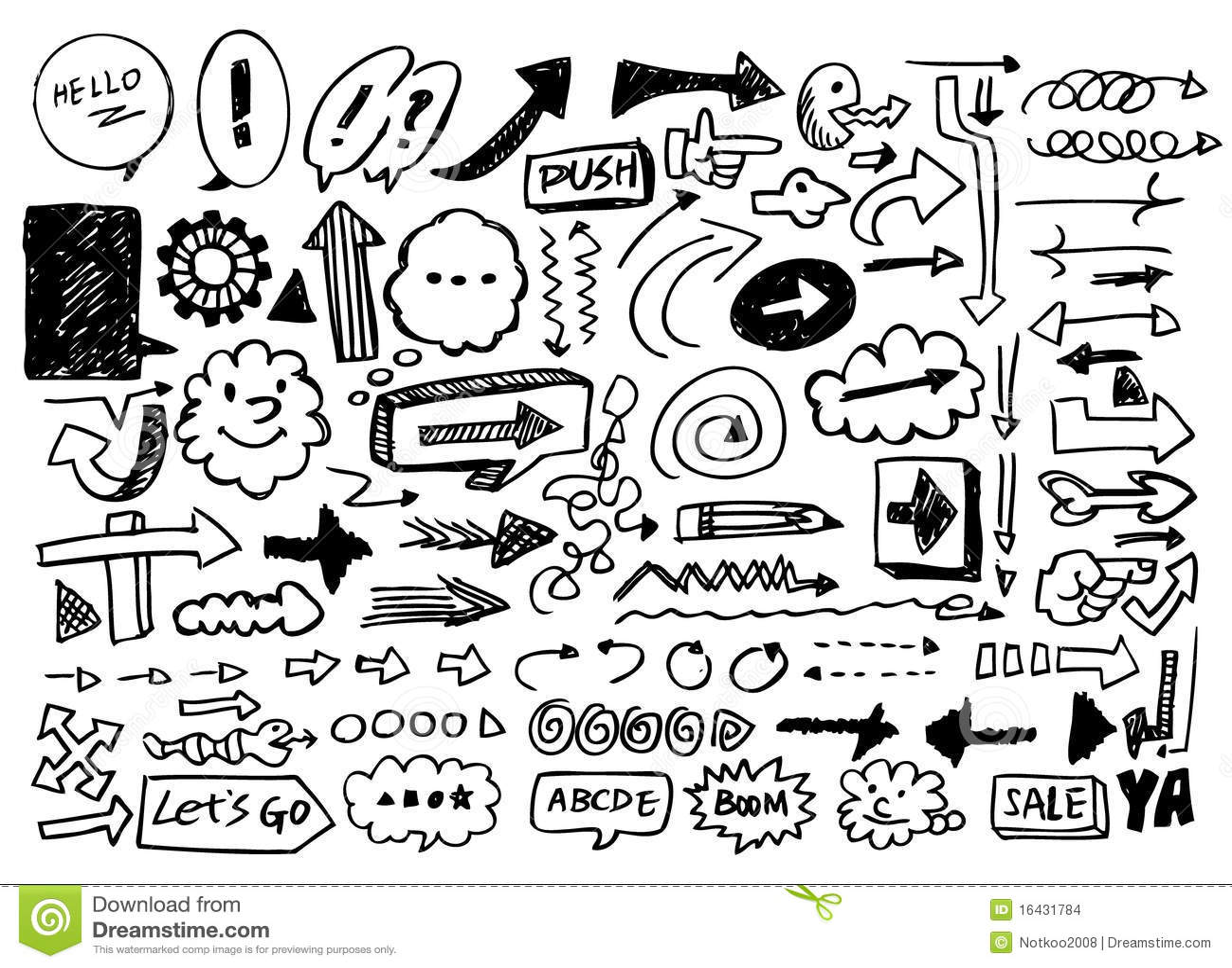 Arrow Doodles Stock Images