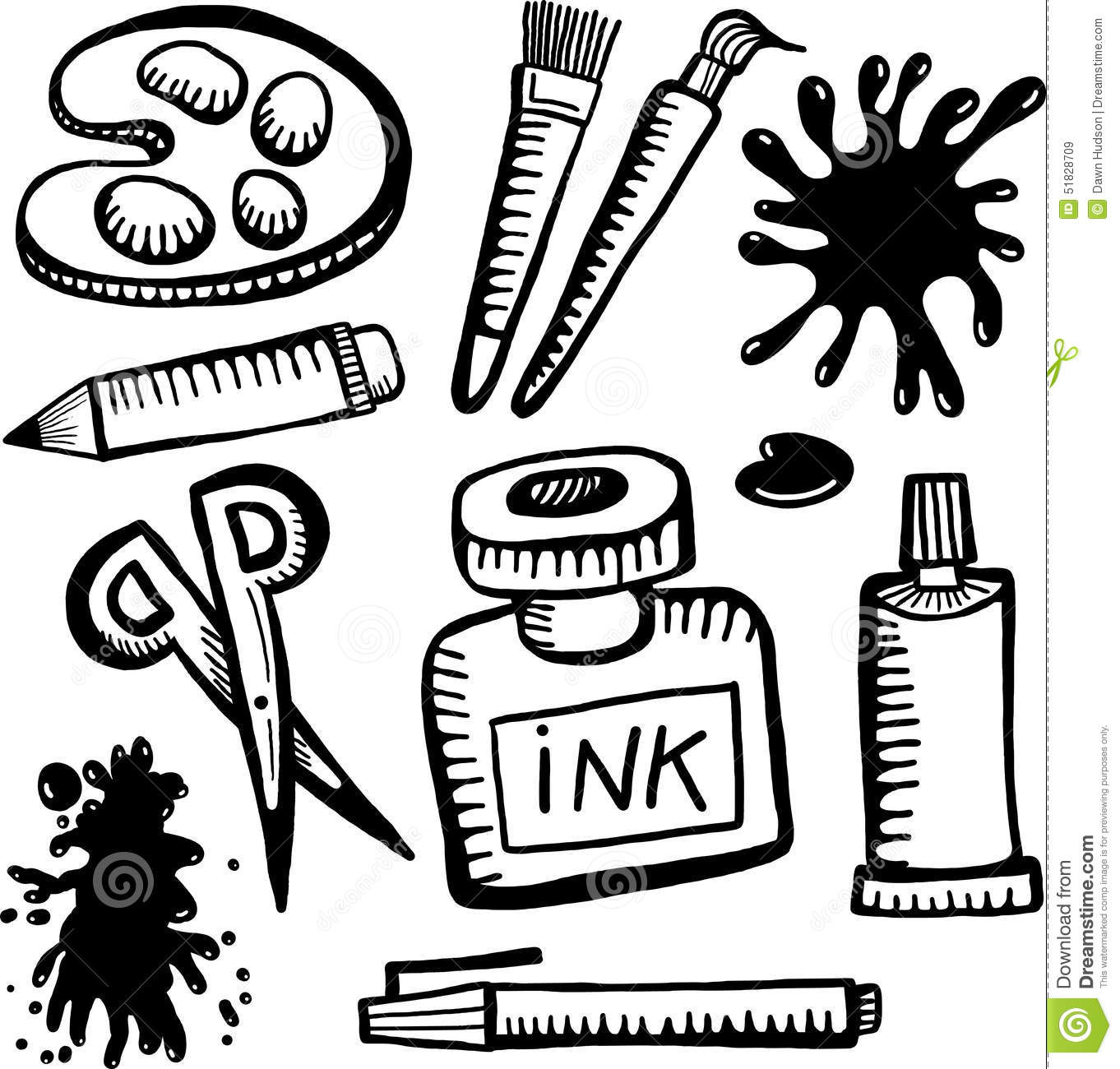 Art And Craft Objects Stock Illustration