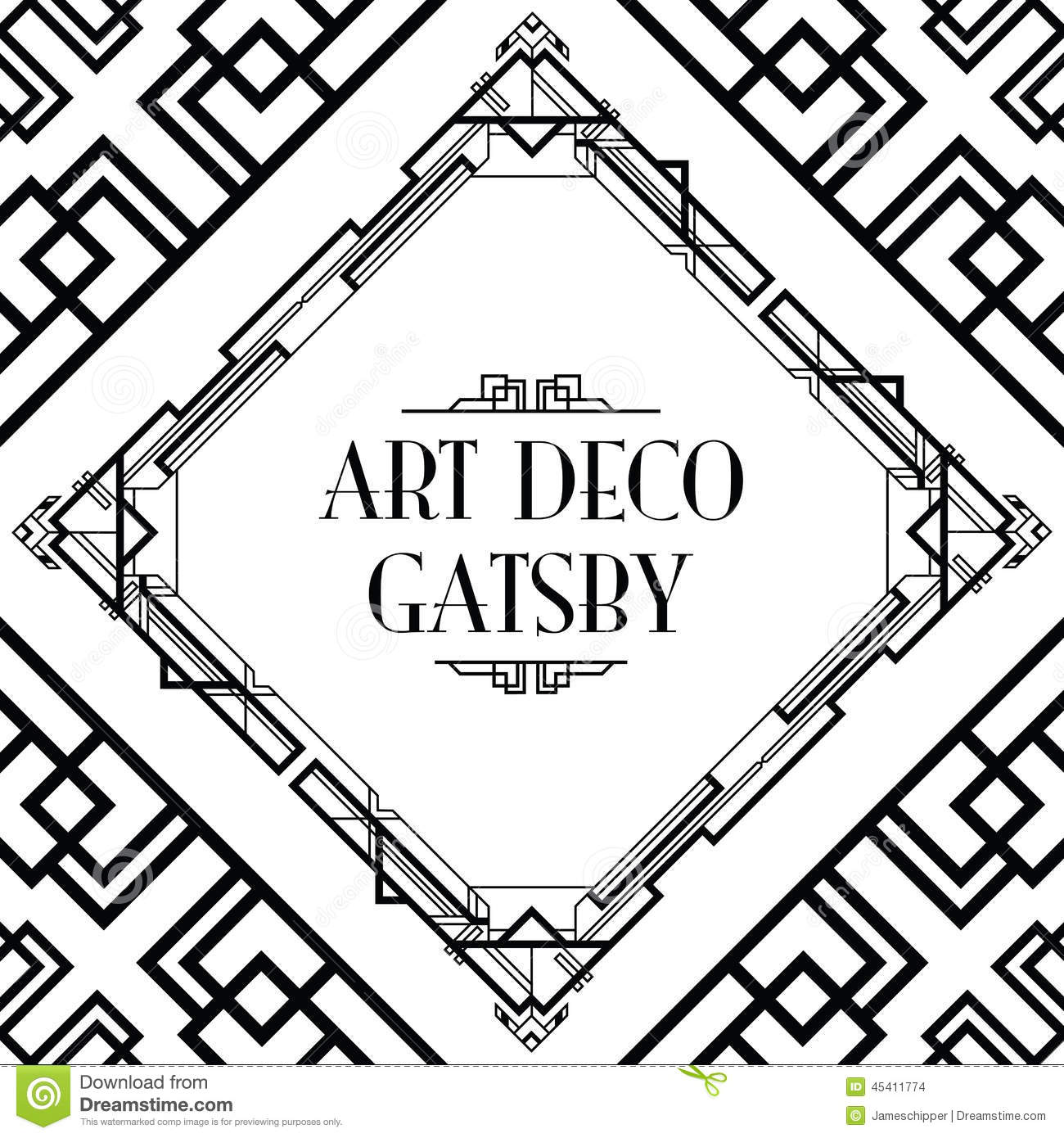 Art Deco Gatsby Style Stock Vector Image Of Frame Line
