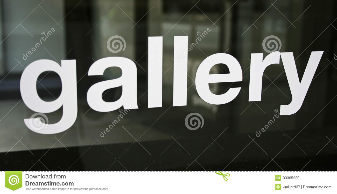 Art Gallery Sign Stock Photo Image 33365230