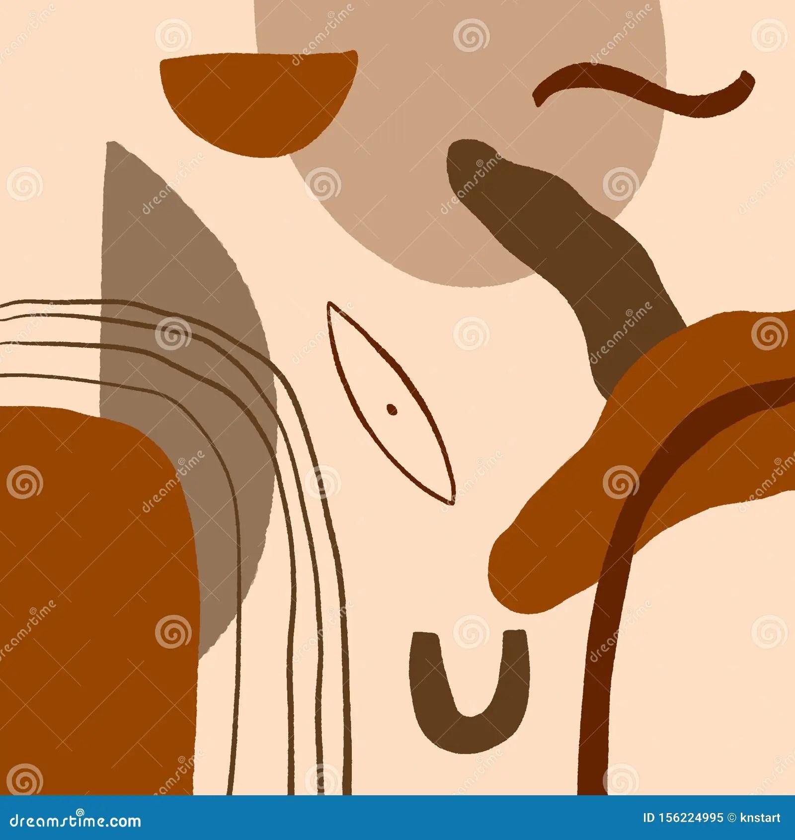 Art Terracotta Imprimer Resume Peinture Numerique Moderne Mode Scandinave Style Couleur Resume Affiche Contemporaine Impression G Illustration Stock Illustration Du Moderne Contemporaine 156224995
