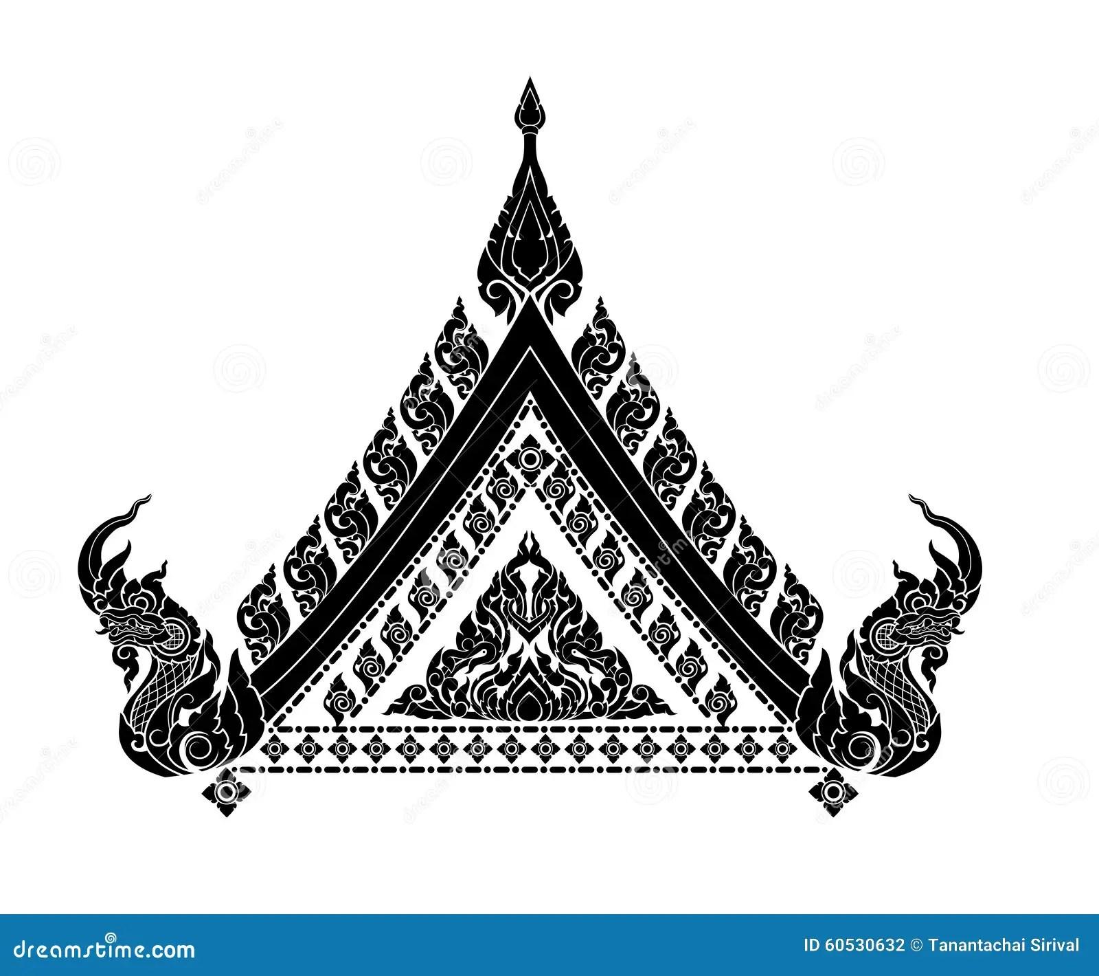 Artes Tailandeses Interiores Ilustracion Del Vector