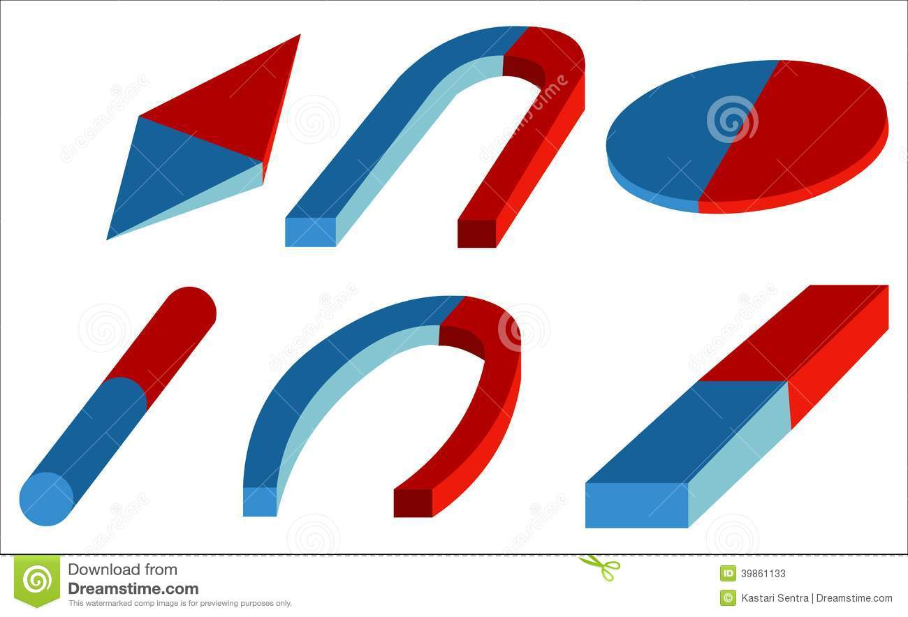 Artificial Magnet Stock Vector Illustration Of Icon