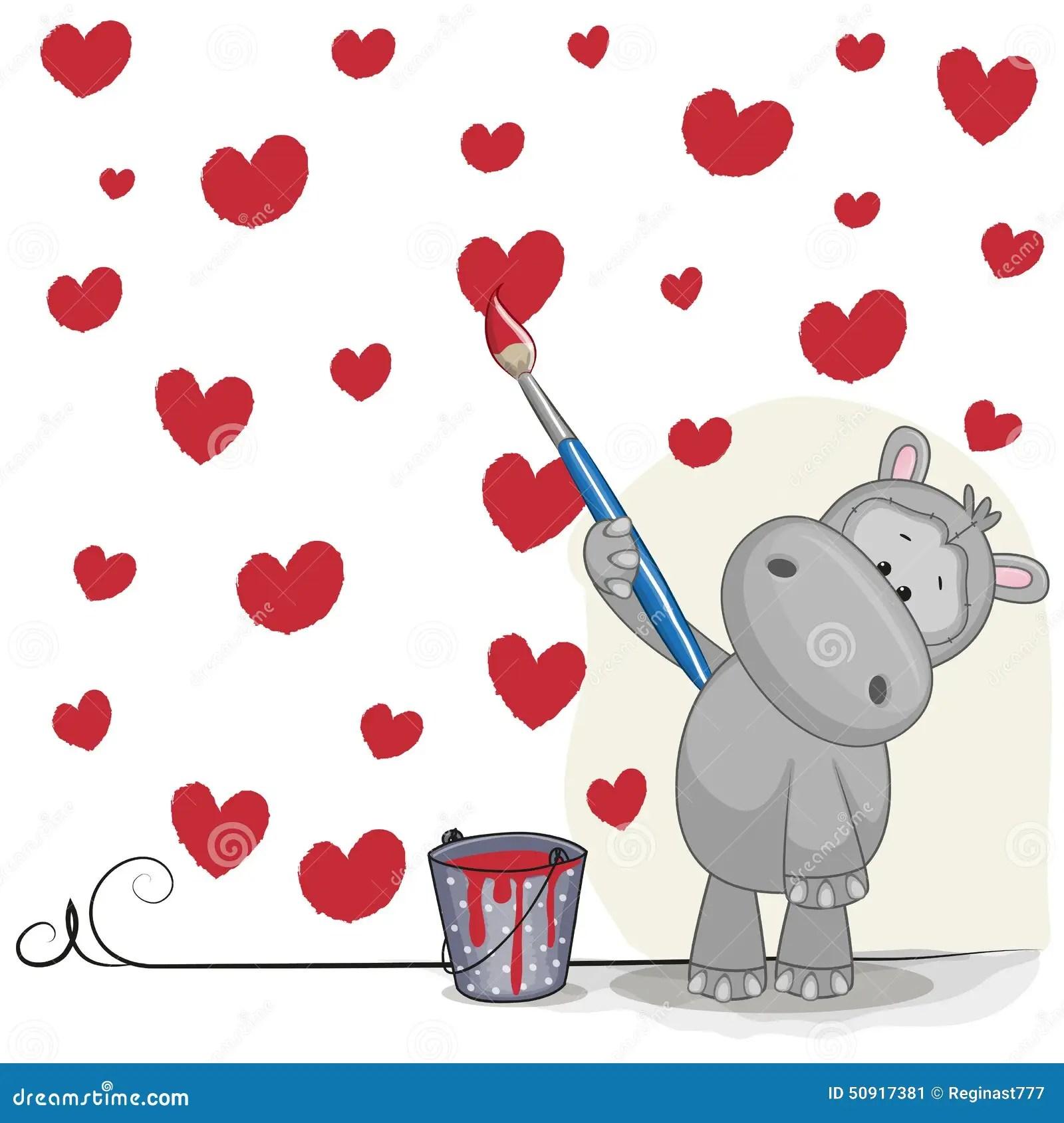 Artist Hippo Stock Vector Image 50917381