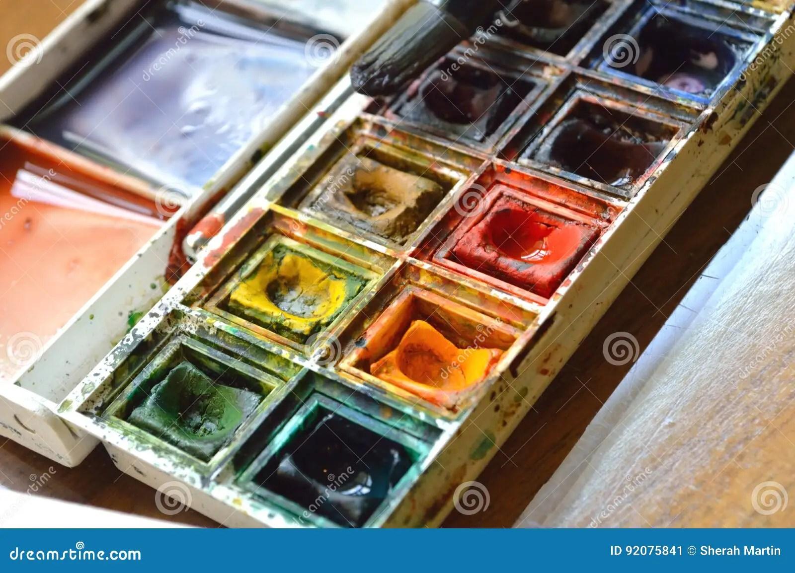 Artist S Watercolor Palette Stock Image