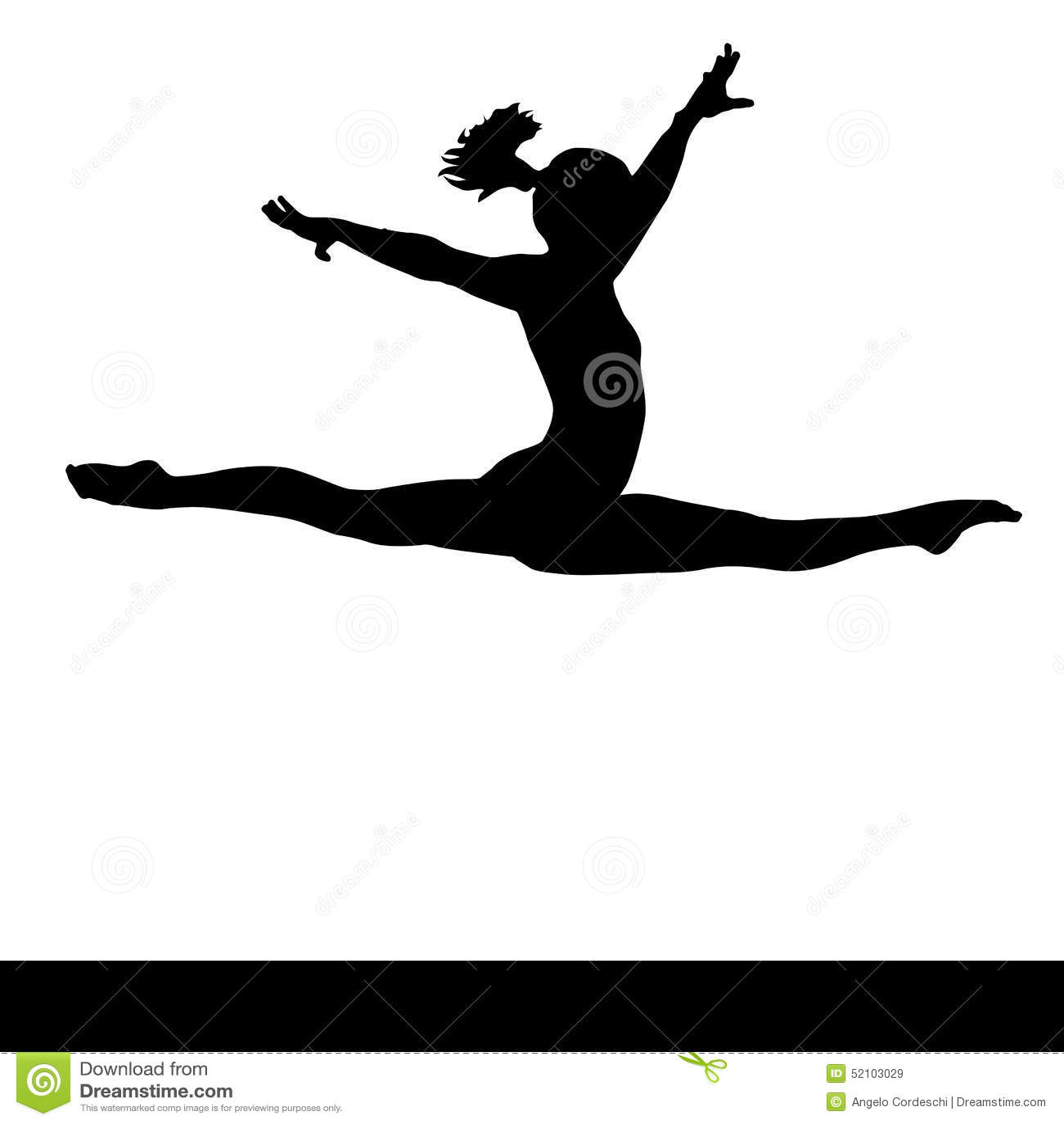 Tumbling Gymnastics Clip Art