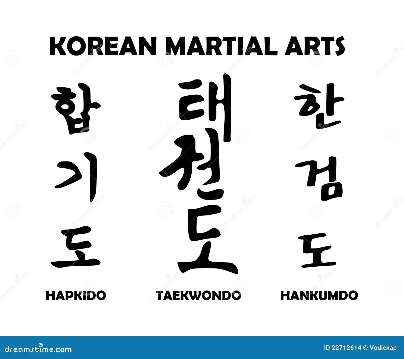 Arts Martiaux Coreens Illustration De Vecteur