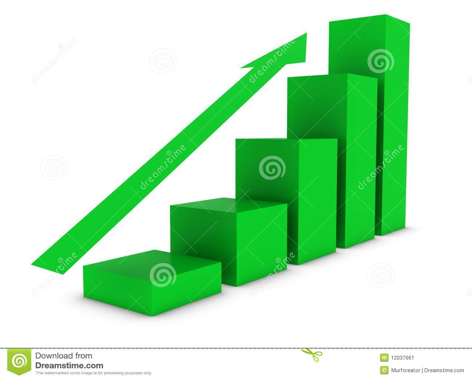 Ascending Bar Chart Stock Image