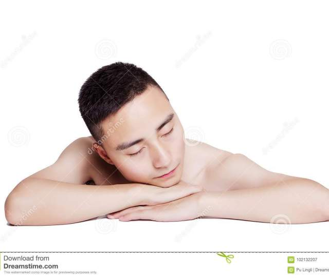 Asian Men Enjoying Health Care Massage