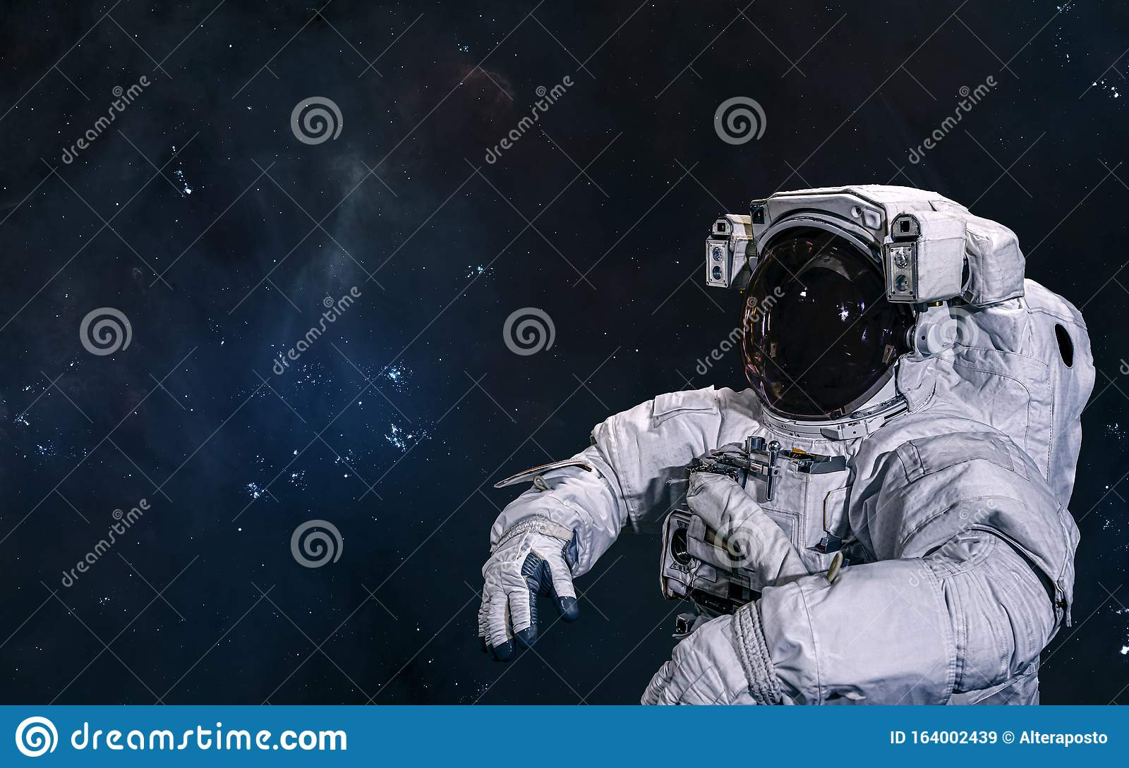 Astronaut In Outer Space Science Fiction Stock Image