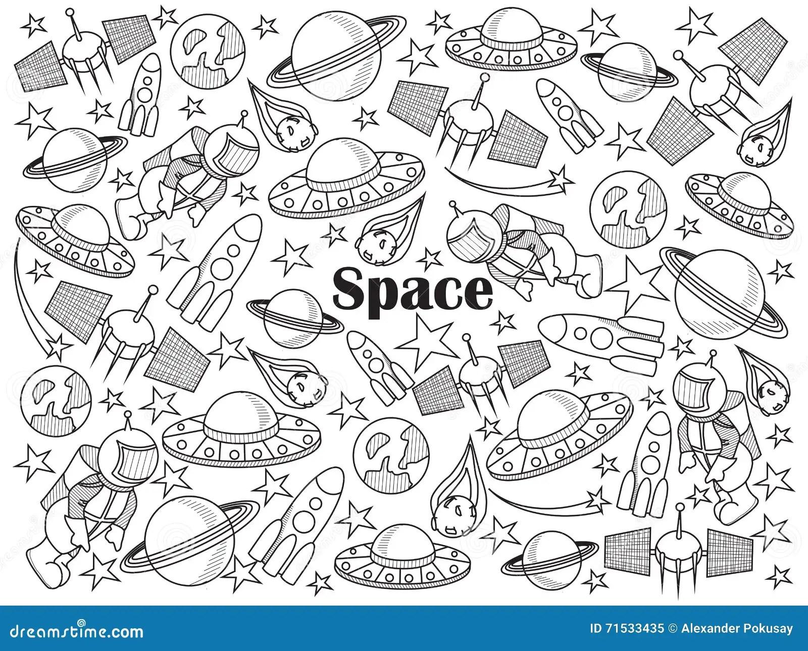 Astronautyczna Bezbarwna Ustalona Wektorowa Ilustracja