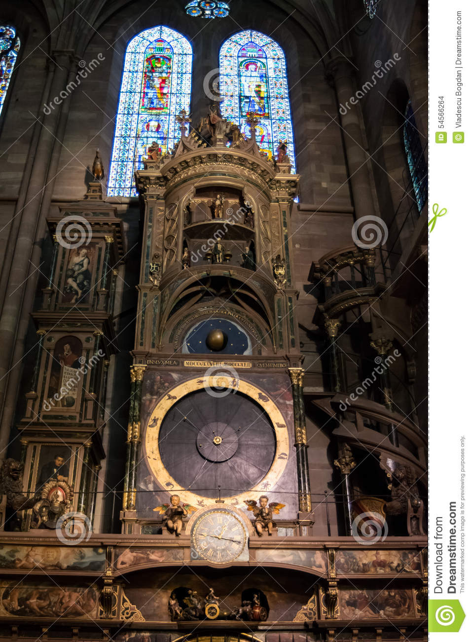 Astronomical Clock In Notre Dame Cathedral Strasbourg