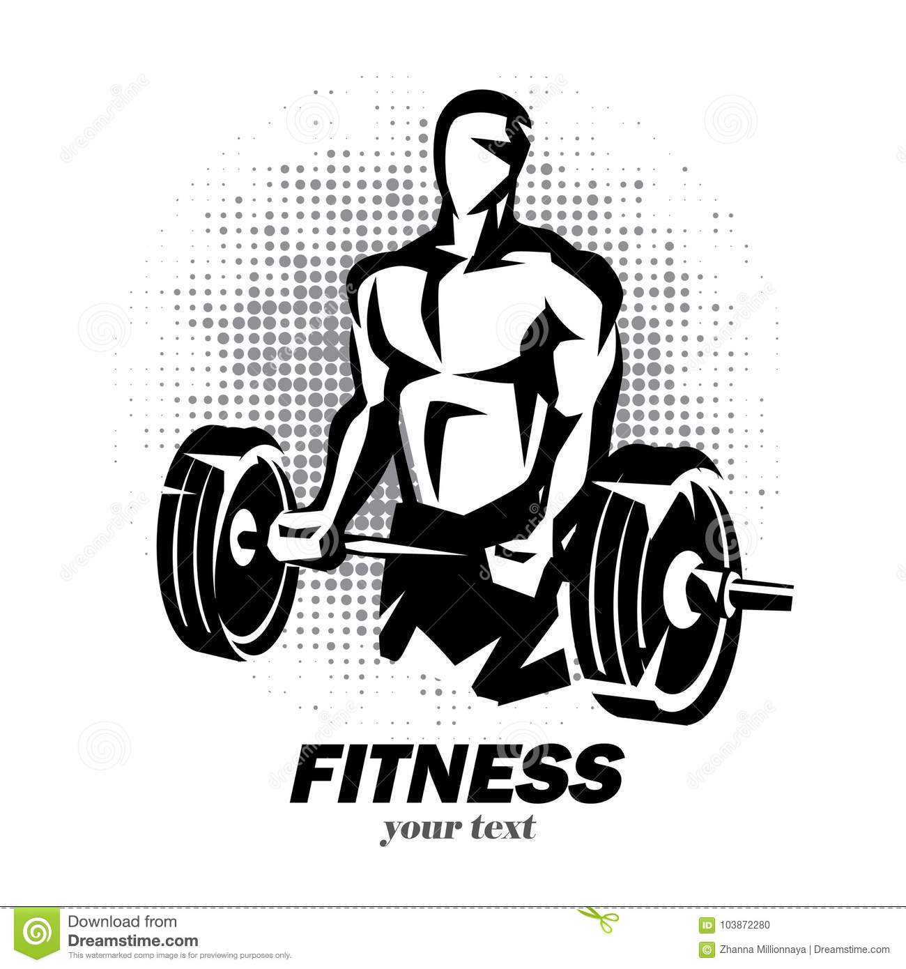 Barbell Silhouette Stock Illustrations 2 390 Barbell