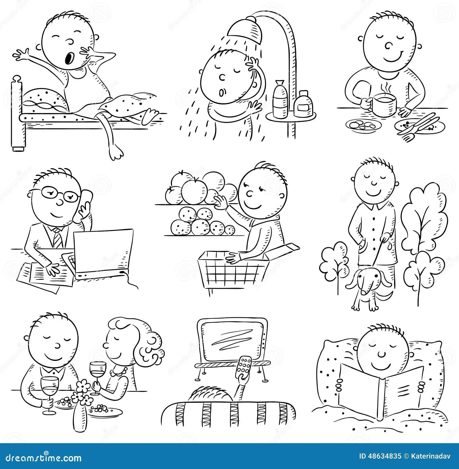 Atividades Diarias Do Homem Dos Desenhos Animados