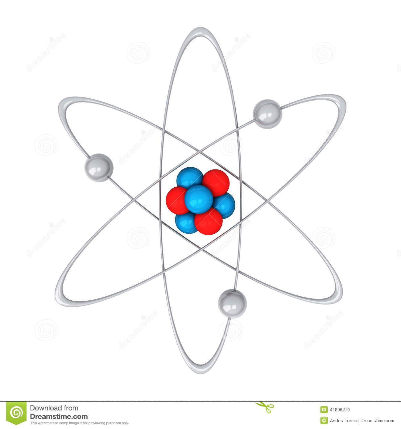 Atom 3d Stock Illustration Image Of Chemistry