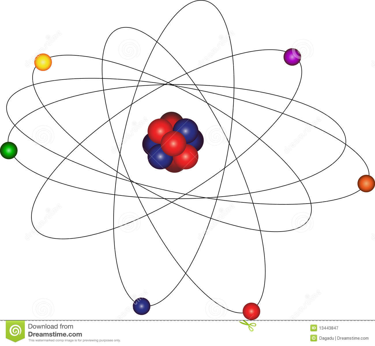 Atom With Electron Orbit Stock Vector Illustration Of