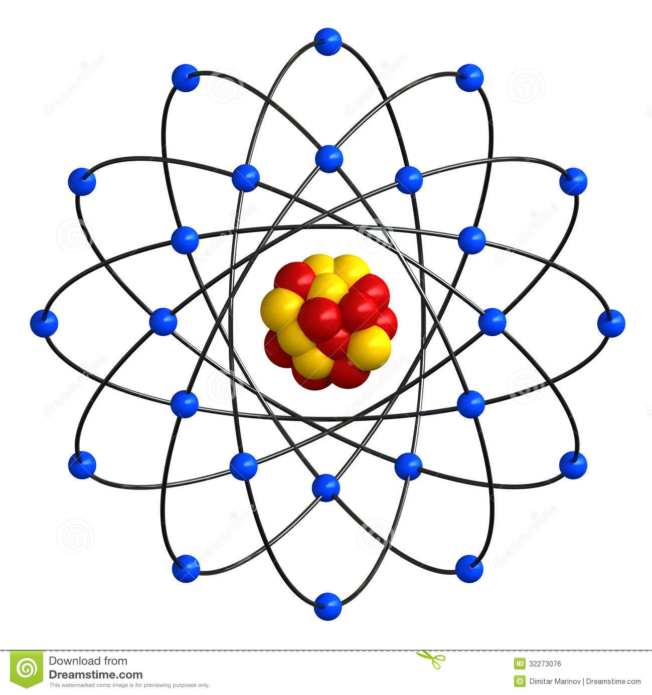 Atomic Structure Stock Illustration Image Of Structure