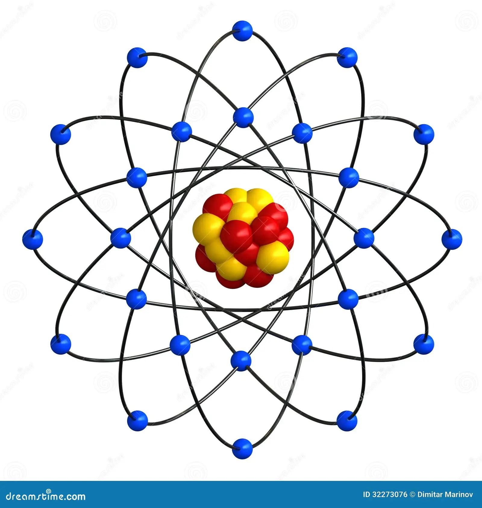 Atomic Structure Stock Illustration Illustration Of