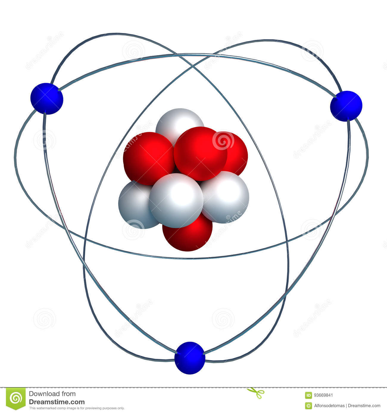Atomic Structure With Proton Neutron And Electron