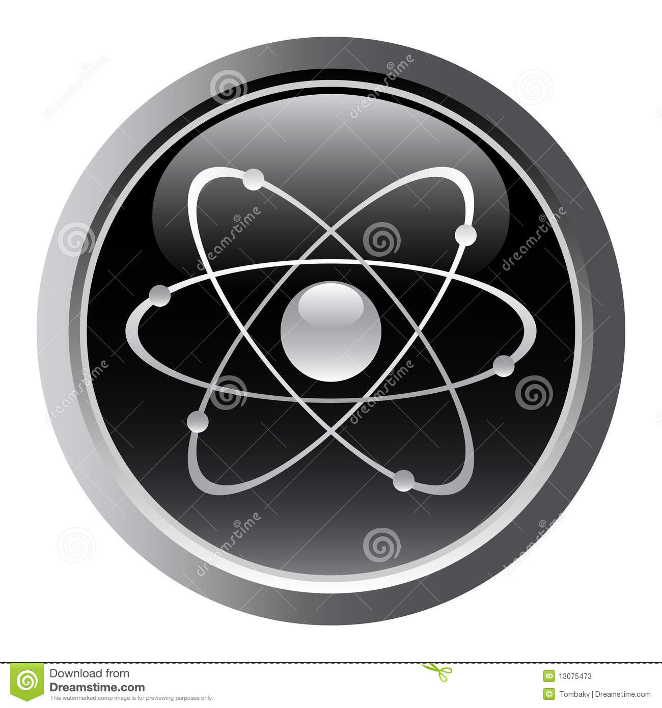 Atomic Symbol Stock Vector Illustration Of Button