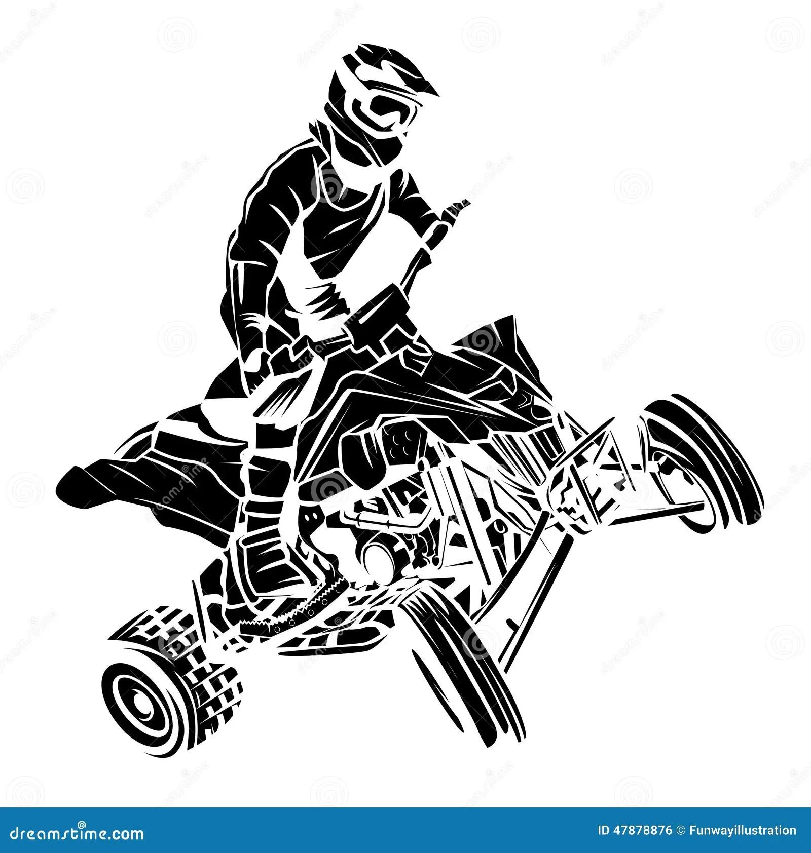 Atv Moto Reiter Vektor Abbildung Illustration Von