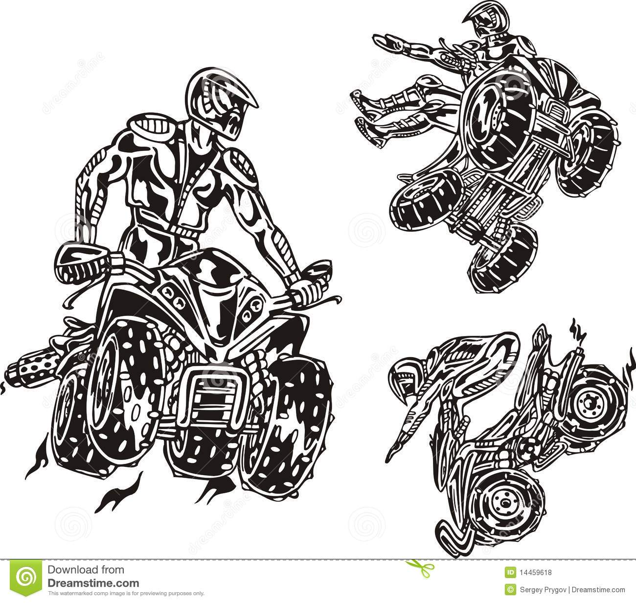 Atv Riders 4 Royalty Free Stock Photos