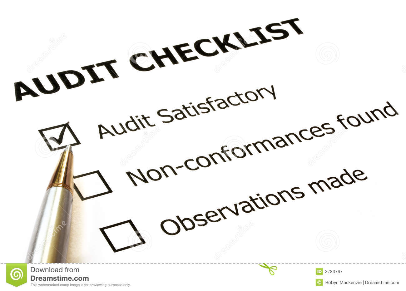 Audit Checklist Stock Image Image Of Feedback List